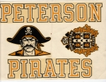 Peterson High Pirates!Decals from 1970