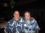 Neil Citraro '82 and Cliff Aldecoa (me) '79.  Was it Hawaiian shirt day at the reunion? - just kidding -