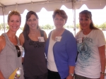 Donna Hendry-Thompson, Barbara Ricketts-Geach, Lisa Brennan-Holloway, Beverly Ricketts-Silva (Class of '77)