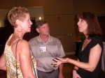 Donna Hendry-Thompson, Larry Goddard, Ivy Phirippidis-Daley (Class of '77)
